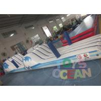 China Gaint Outdoor Inflatable Water Obstacle Course With Frame Pool wholesale