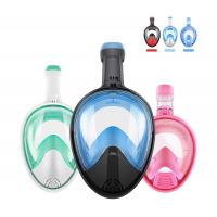 China Easy Breathe Snorkel Mask Full Face Swimming Mask 180°Panoramic View wholesale