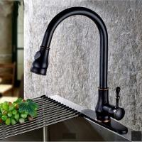 China ORB Brass Pull Out Spray Sanitary Kitchen Faucet Single Handle Water Tap wholesale