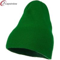 China Big Stretch Plain Classic Short Beanie Winter Hat Pure Acrylic wholesale