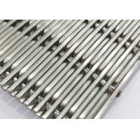 China White Steel Crimped Wire Mesh , Plain Weave Mesh Bright Smooth Wear Resistance wholesale