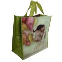 China PP Woven Reusable Carrier Bags Both Sides Shining Coats , eco friendly wholesale