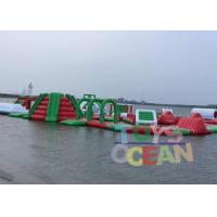 China Green Red And White 0.9mm PVC Inflatable Floating Water Parrk For Adults wholesale
