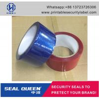 China Customized Promotion PET Tamper Security Seal Tape For Carton Sealing wholesale