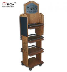 China Wood POP Merchandise Displays In Store Gondola Movable Floor Displays wholesale