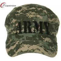 China Army Flat US Army Digital ACU Washed Cotton Military Baseball Hats with Curved Bill and Buckle Closure wholesale
