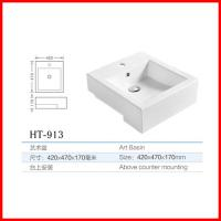 China ceramic wash basin cabinet in india rectangle shape wash basin wholesale