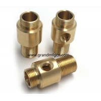 China custom precision metal machined parts quality brass turned parts NPT male thread connectors brass fittings on sale