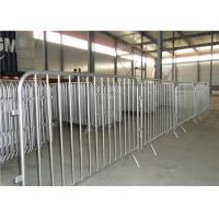 Buy cheap traffic road barrier galvanized pvc coated crowd control barrier customized from wholesalers