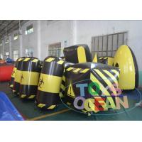 China Amazing Inflatable Paintball Airball Bunkers / Indoor Paintball Field For Adults wholesale