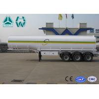 China Sinotruk Howo Carbon Steel Tri - axle crude oil trailers One Compartment Emergency Valve wholesale