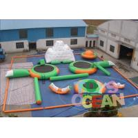 China Green Open Sea  Inflatable Water Park Rentals For Kids 0.9MM PVC wholesale