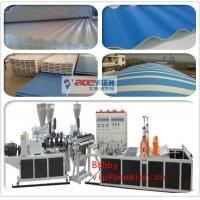 China Three Layer PVC Roofing Panel Roll Forming Machine / Plastic Roof Tile Extrusion Line on sale