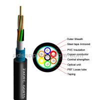 China GDTS Hybrid Fiber Optic Cable Ultraviolet Prevention With Steel Tape wholesale