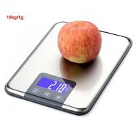 10kg 1g Digital Scale Electronic Kitchen Food Jewelry Balance Stainless Steel Platform Touch Bottom LCD Back light