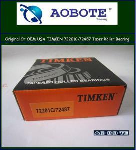 China Tapered Roller Bearing , Origin USA timken tapered roller bearing 72201C / 72487 wholesale