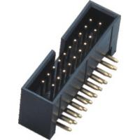 China Plastic Height 13.6 Curved Needle Box Header Connector 2.54 Pitch Brass Material wholesale