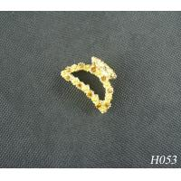 China Children's Jeweled Hair Accessories Fashion Plated Gold Flower Hairpin Jewellery wholesale