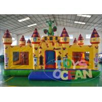 China 0.55 PVC Inflatable Dragon Playground Trampoline Bouncer Castle Yellow Outdoor wholesale