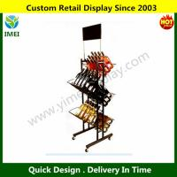 China Commercial Wine Display Rack Trolley YM6-007 wholesale