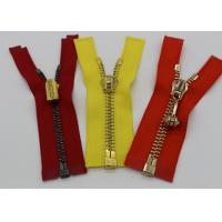 China Gold Teeth Open End 36 Inch Metal Separating Zipper Semi - Auto Lock For Canvas wholesale