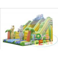 China Animal Zoo Jungle Coconut Tree Inflatable Slides For Outdoor Amusement Park wholesale