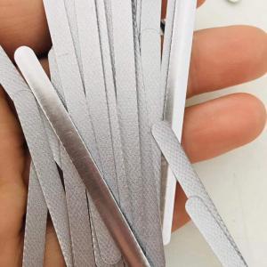 China Mental Aluminum Nose Wire Bridge Self Adhesive Flat Aluminum Nose Strip for Face Mask wholesale