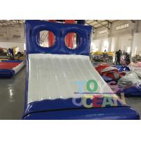 China Blue / White Inflatable Sports Game 0.9mm PVC Tarpaulin Water Slide Game For Park wholesale