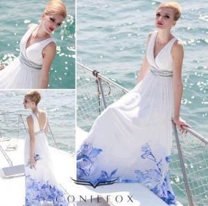 China elegant pattern mother of bride dresses,  v-neck mother of bride mother dresses wholesale