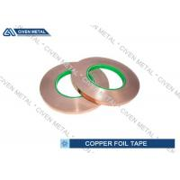 China Self - Adhesive Copper Shielding Tape With Conductive Acrylic Adhesive wholesale