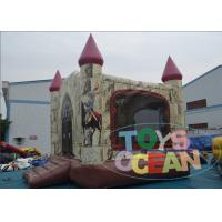 Quality Business Huge Funny Kids Inflatable Playground For Rental Jumping Pink Roof for sale