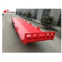 13 Meters 3 Axles Commercial Flatbed Trailer With Dual Line Brake System