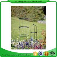 "China Tall Round Decorative Garden Plant Trellis Matte Black Color For Climbing Plant 5' Trellis is 9-3/4"" in diameter x 5' H wholesale"