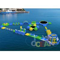 China Sea Inflatable Aqua Playground Park Amusement Blue Green 0.9 Vinly wholesale