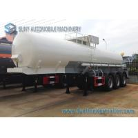 China Transport Sulfuric Acid 30000L Chemical Tank Trailer 3 Axle With Cylinder Shaped on sale