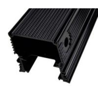Quality Black Anodized Aluminum Extrusions For Electronics / Electrical Cover / Electronic Enclosure for sale