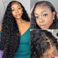 China Unprocessed Brazilian Human Hair Full Lace Wig OEM Vendors Water Wave on sale