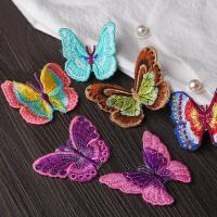China Small Butterfly Iron On Embroidered Applique Patches Cloth Badge For Clothes Customized on sale