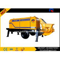 Quality Electric Trailer Pump Concrete Equipment 0.6/1400 M3/Mm Feeding Height for sale