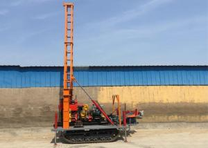 China Crawler Type 180m Borehole Drilling Machine For Soil Testing wholesale