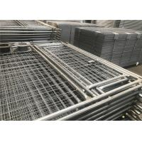 China Temp Fence Panels Construction Residential with Pedestrian Gates wholesale