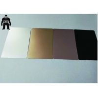 China 85x54mm Metal Plain Business Gift Silver Anodized Engraved Aluminium Cards on sale