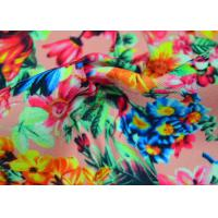 China Twill Polyester Fabric / Patterned Printed Polyester With Heat Transfer wholesale