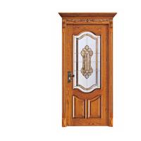 China Industry Leading Mosaic Glass Insert Lacquer Interior China Wooden Door on sale