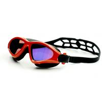 China Fashionable Swimming Goggles Red Color , Waterproof Swim Goggles With UV Shield wholesale