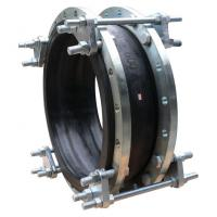 Double Flange  Rubber Expansion Joint With Tie Rods PN10 / 16 / 25