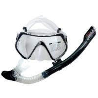 China Dry Top Diving Mask Snorkel Set , Dive Mask And Snorkel Set For Water Sports Equipment wholesale