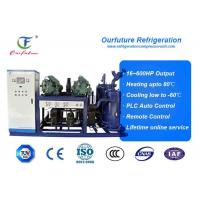 China R404a Bitzer brand screw type parallel compressor racks for fruit processing wholesale