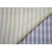 China Woven Technics Blended Striped Jacquard Fabric Soft Touch For Dress wholesale