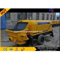 China 6500Kg Static Pump Concrete , Portable Concrete Trailer 0.6M3 Hopper Volume wholesale